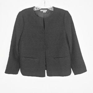 Vince Wool Lined Short Black Blazer Jacket